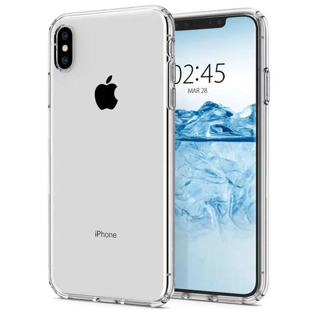 Pouzdro TopQ iPhone XS Max silikon průhledný ultratenký 0 02fd3048237
