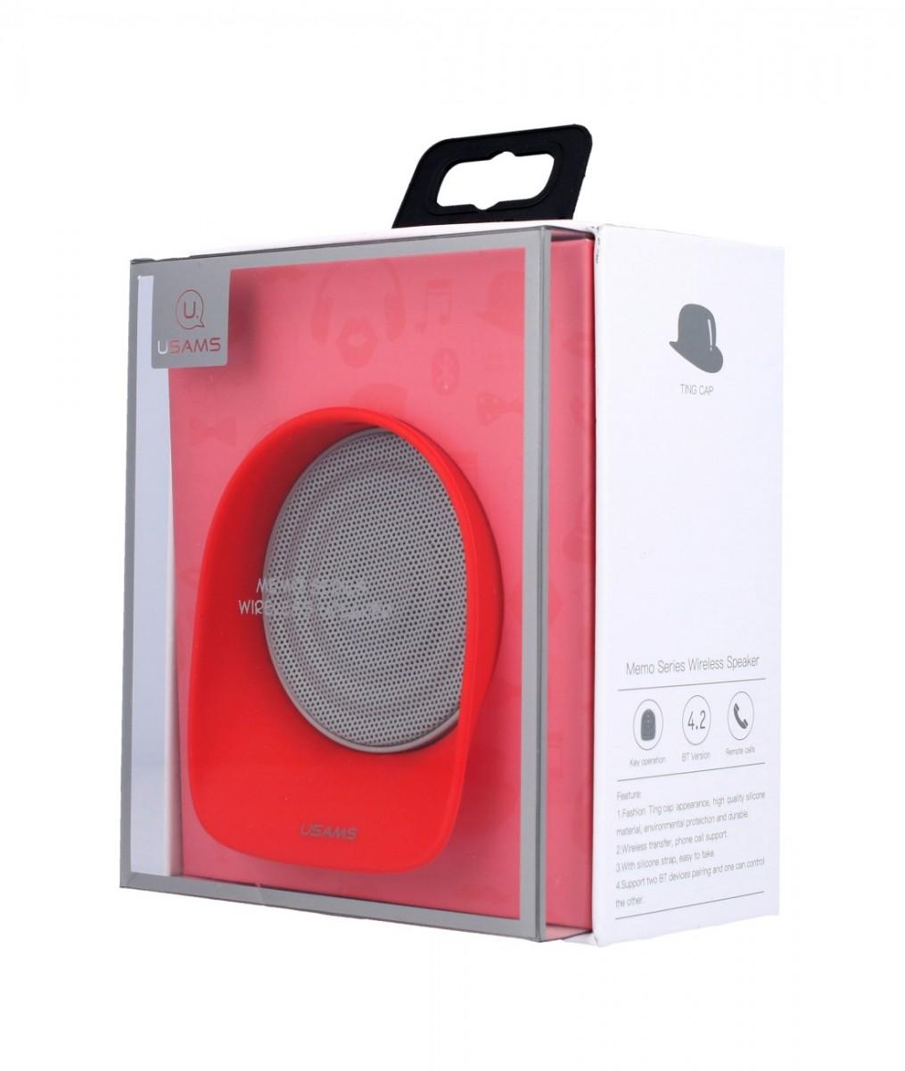 USAMS Bluetooth Reproduktor Memo červený 33706