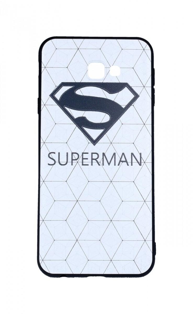Zadní 3D silikonový kryt na Samsung J4+ bílý Superman