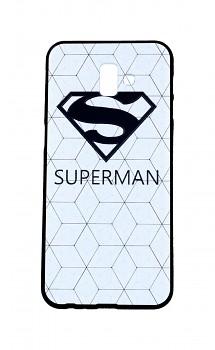 Zadní 3D silikonový kryt na Samsung J6+ bílý Superman