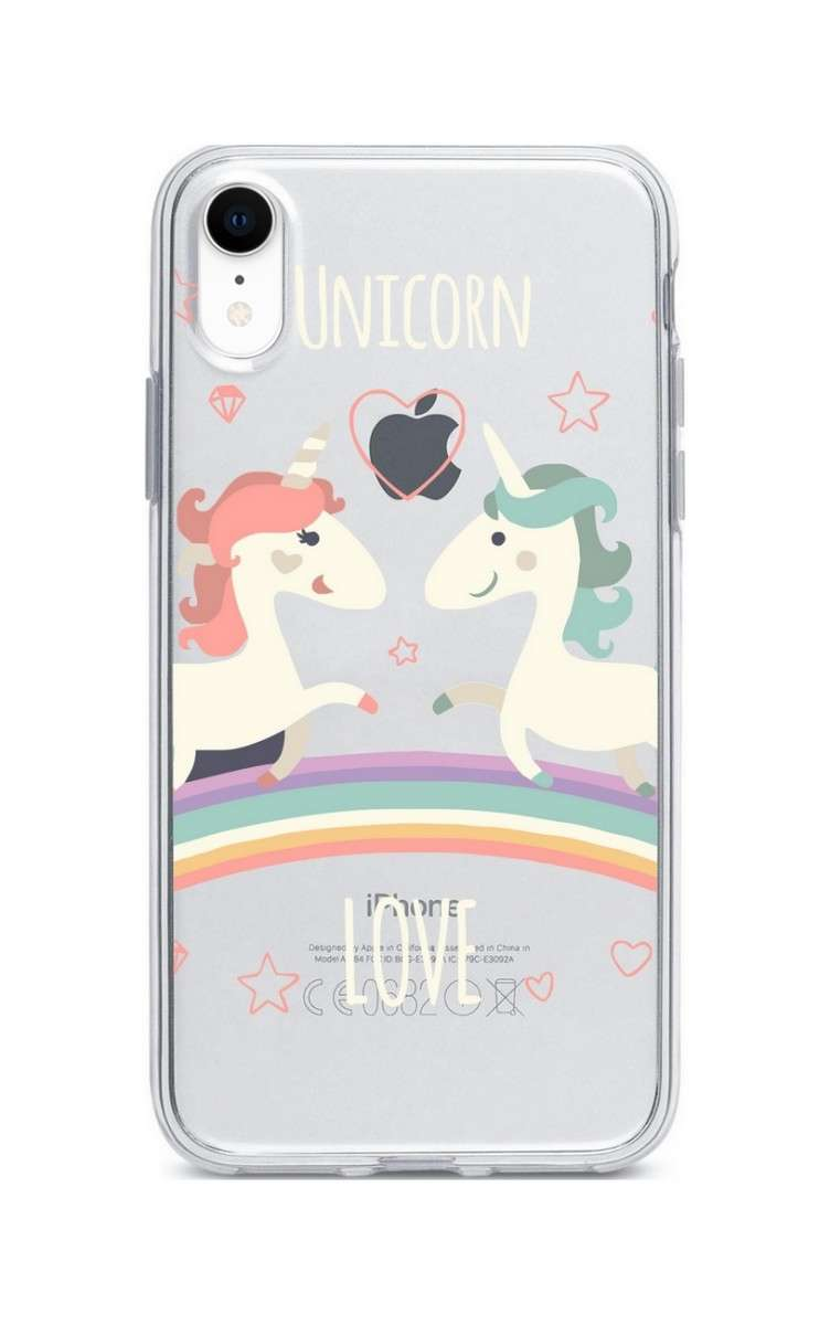 Pouzdro TopQ iPhone XR silikon Unicorn Love 33982 (kryt neboli obal na mobil  Apple iPhone 97f7ced6d2f