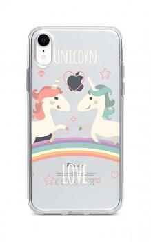 Zadní silikonový kryt na iPhone XR Unicorn Love