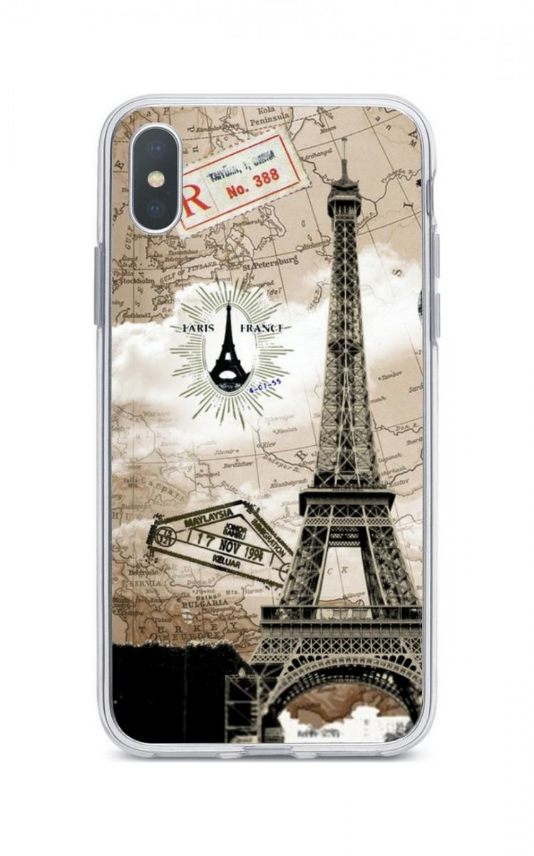 Pouzdro TopQ iPhone XS Max silikon Paris 2 34006 (kryt neboli obal na mobil  Apple 8b42ff9f712