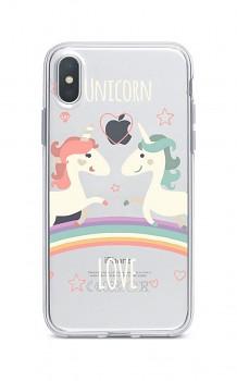Zadní silikonový kryt na iPhone XS Max Unicorn Love