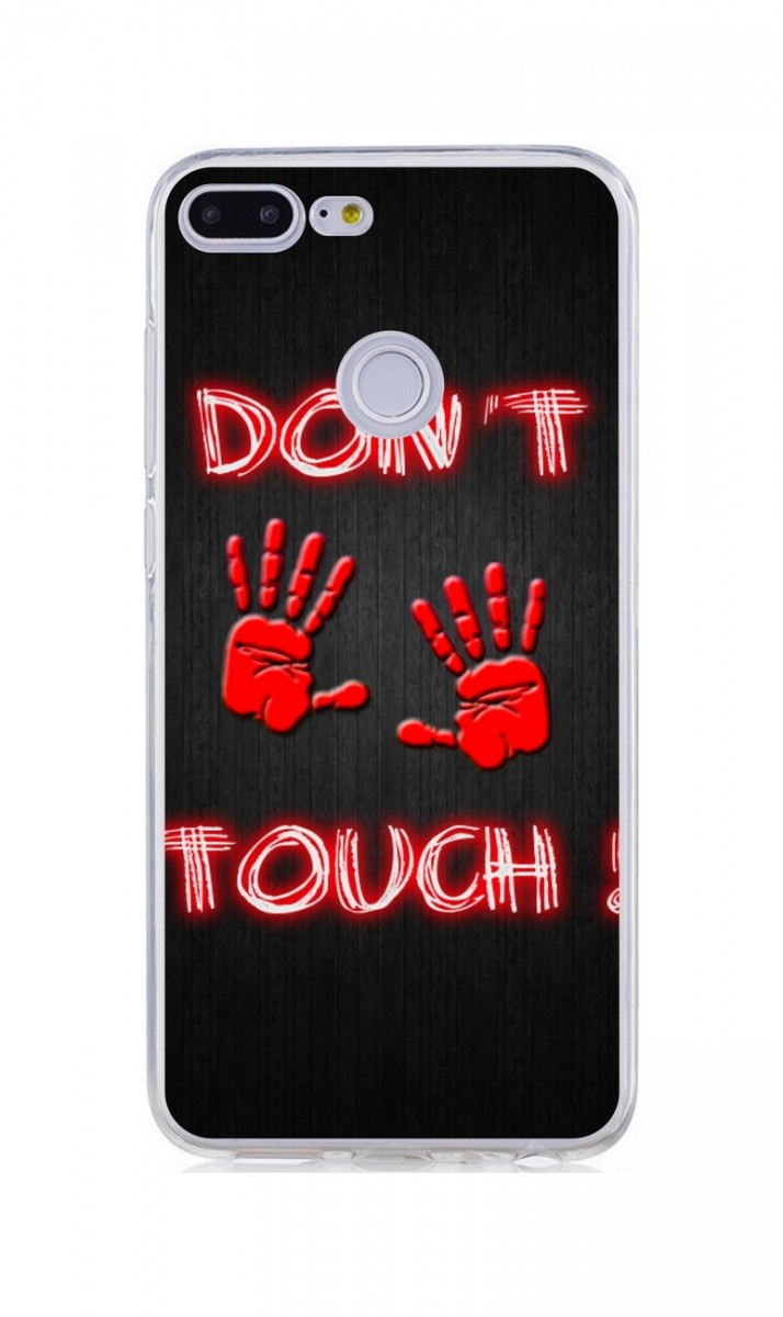 Pouzdro TopQ Honor 9 Lite silikon Don't touch red 34020 (kryt neboli obal na mobil Honor 9 Lite)