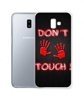 Zadní silikonový kryt na Samsung J6+ Don't touch red