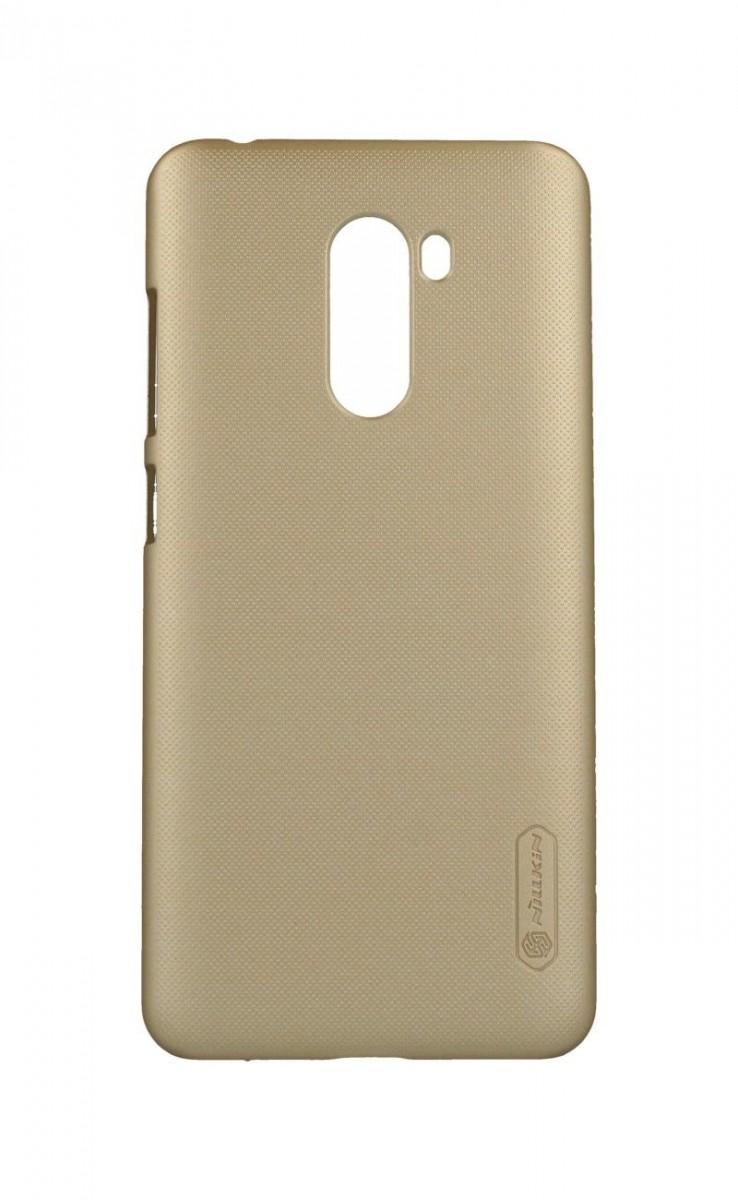 Pouzdro Nillkin Xiaomi Pocophone F1 pevné zlaté 34100 (kryt neboli obal na mobil Xiaomi Pocophone F1)