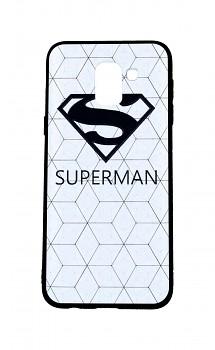 Zadní 3D silikonový kryt na Samsung J6 bílý Superman