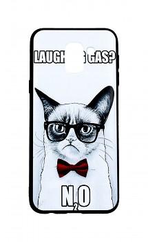 Zadní 3D silikonový kryt na Samsung J6 Grumpy Cat