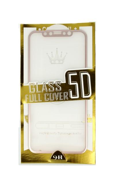 Polykarbonátová ochrana displeje BestGlass na iPhone XS 5D růžová