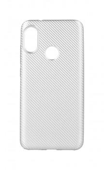 Zadní silikonový kryt na Xiaomi Mi A2 Lite Carbon stříbrný