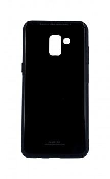 Zadní pevný kryt GLASS na Samsung A8 Plus 2018 černý