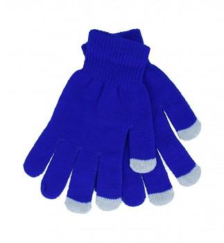 Dotykové rukavice pro mobilní telefon modré vel. S