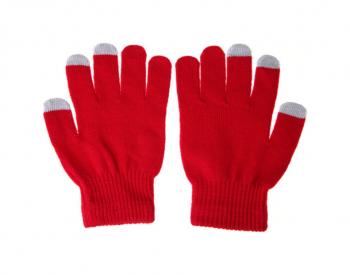 Dotykové rukavice pro mobilní telefon červené vel. S