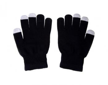Dotykové rukavice pro mobilní telefon černé vel. S