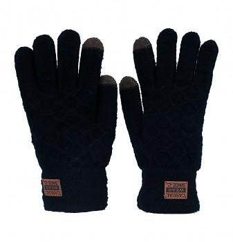 Dotykové rukavice pro mobilní telefon černé vel. M / L