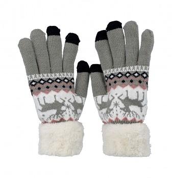 Dotykové rukavice pro mobilní telefon Nordic šedé vel. M