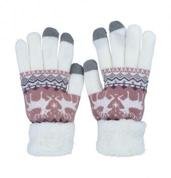 Dotykové rukavice pro mobilní telefon Nordic bílé vel. M