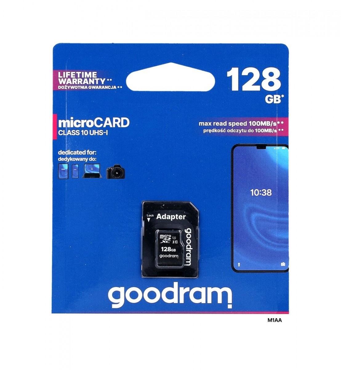 Paměťová karta GOODRAM 128GB Class 10 UHS-I 35237