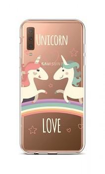 Zadní silikonový kryt na Samsung A7 Unicorn Love
