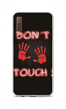 Zadní silikonový kryt na Samsung A7 Don't touch red