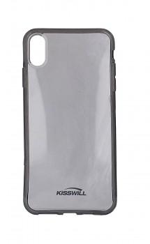 Zadní silikonový kryt KISSWILL na iPhone XS Max tmavý