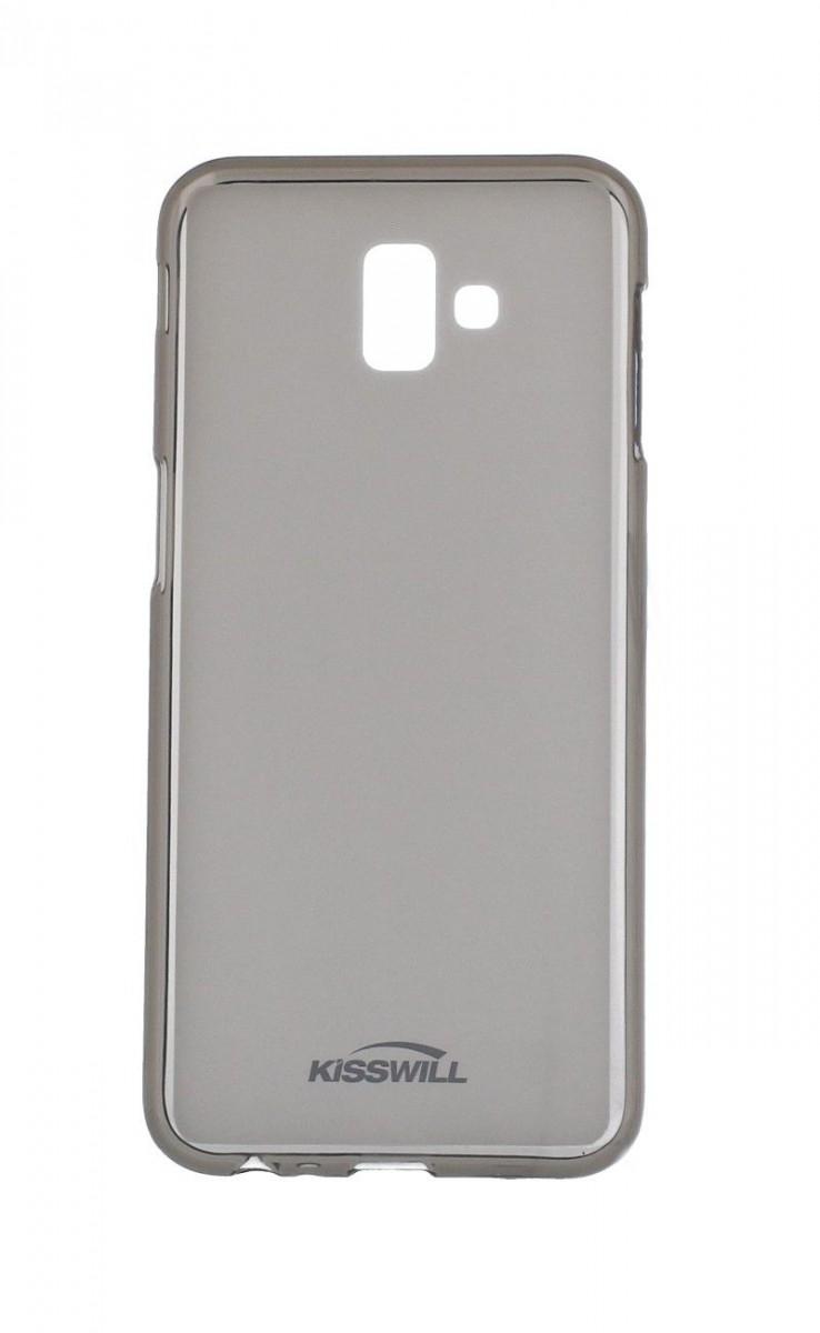 Pouzdro KISSWILL Samsung J6+ silikon tmavý 35558 (kryt neboli obal na mobil Samsung J6+ J610F)