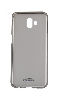 Zadní silikonový kryt KISSWILL na Samsung J6+ tmavý