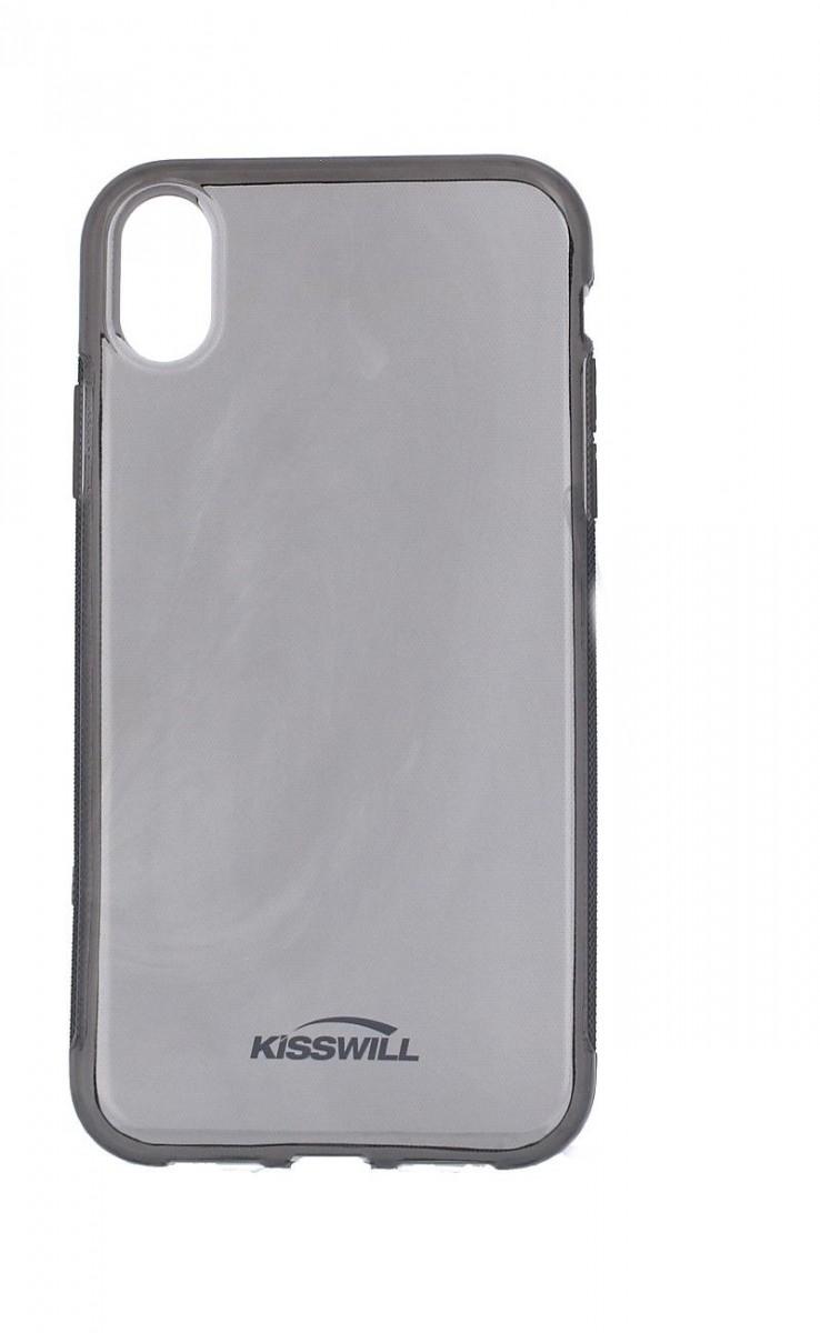 Pouzdro KISSWILL iPhone XR silikon tmavý 35562 (kryt neboli obal na mobil iPhone XR)