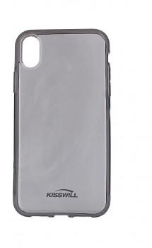 Zadní silikonový kryt KISSWILL na iPhone XR tmavý