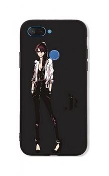 Zadní pevný kryt GLASS na Xiaomi Mi 8 Lite Fashion Girl