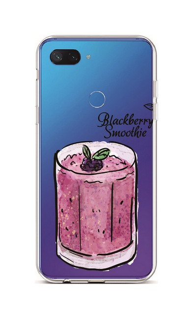 Kryt TopQ Xiaomi Mi 8 Lite silikon Blackberry Smoothie 36383 (pouzdro neboli obal na mobil Xiaomi Mi 8 Lite)