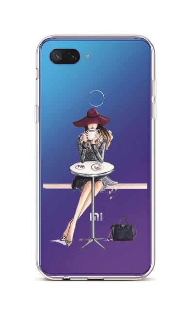 Kryt TopQ Xiaomi Mi 8 Lite silikon Lady 6 36524 (pouzdro neboli obal na mobil Xiaomi Mi 8 Lite)