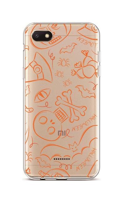 Kryt TopQ Xiaomi Redmi 6A silikon Halloween 36942 (pouzdro neboli obal na mobil Xiaomi Redmi 6A)