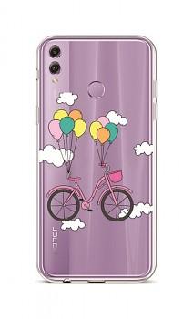 Zadní silikonový kryt na Honor 8X Pink Bike