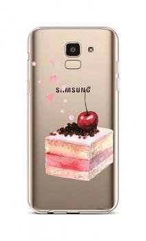 Zadní silikonový kryt na Samsung J6 Cherry Cake