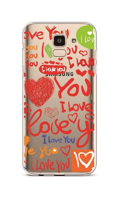 Kryt TopQ Samsung J6 silikon Love 37872 (pouzdro neboli obal na mobil  Samsung J6) 4774a78869f
