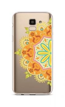 Zadní silikonový kryt na Samsung J6 Orange Mandala