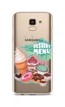 Zadní silikonový kryt na Samsung J6 Dessert Menu