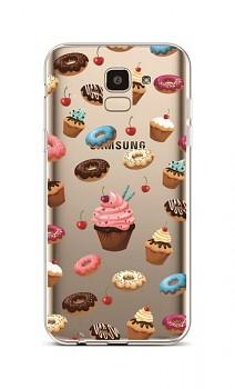 Zadní silikonový kryt na Samsung J6 Cake Shop