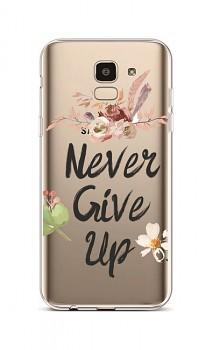 Zadní silikonový kryt na Samsung J6 Never Give Up