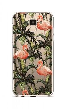 Zadní silikonový kryt na Samsung J6 Tropical Flamingo