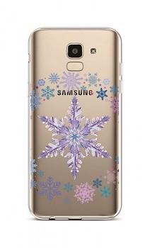 Zadní silikonový kryt na Samsung J6 Snowflake