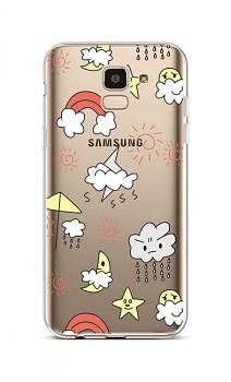 Zadní silikonový kryt na Samsung J6 Rainy Day