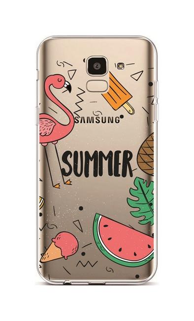 Kryt TopQ Samsung J6 silikon Summer 37909 (pouzdro neboli obal na mobil Samsung J6)