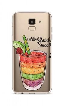 Zadní silikonový kryt na Samsung J6 Rainbow Smoothie