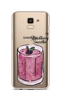 Zadní silikonový kryt na Samsung J6 Blackberry Smoothie