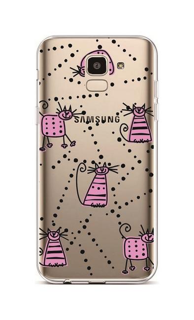 Kryt TopQ Samsung J6 silikon Cats 3 37936 (pouzdro neboli obal na mobil Samsung J6)