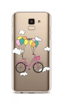 Zadní silikonový kryt na Samsung J6 Pink Bike