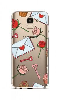 Zadní silikonový kryt na Samsung J6 Love Letter
